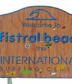 Sign for Fistral Beach