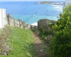 Steep alternative path down to Fistral Beach