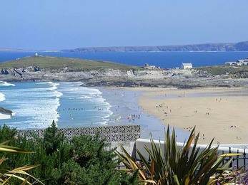 Fistral Beach from apartment grounds