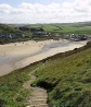 From Coast Path looking into Mawgan Porth